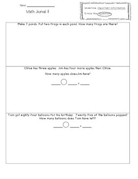 2nd gradeMath Journals
