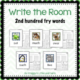 2nd hundred Fry sight words Write the Room