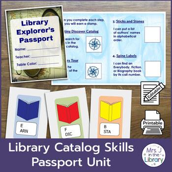 2nd or 3rd Grade Library Catalog Skills Passport Unit