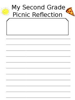 2nd (or any grade) grade picnic/party reflection