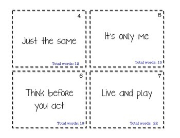 2nd set of Fry's most commonly used words and phrases!