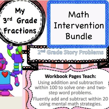 2nd/3rd Grade Common Core Bundle: Story Problems and Fractions