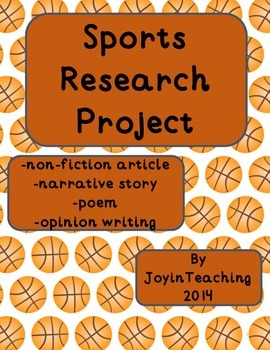 2nd/3rd Sports Research Project:Informational, Narrative, Poem, Opinion Writing