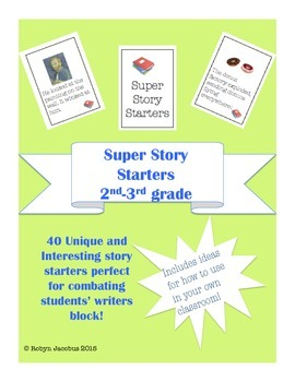 2nd/3rd grade ELA Super Story Starters Writing Card Deck