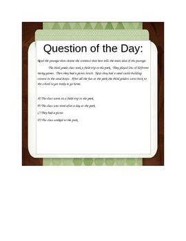 2nd/3rd grade test prep question of the day