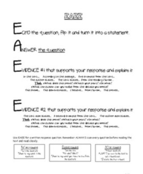 2pt Written response guide