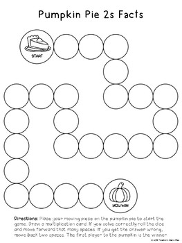 2s Facts Multiplication Game FREEBIE