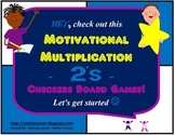 "2's Multiplication Checkers Games w/Quizzes etc. and ""Scaffolding Support"""