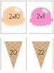2s Multiplication Flash Cards Ice Cream Theme