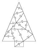 2s and 3s Multiplication Facts Christmas Tree Puzzle