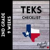 2nd Grade TEKS Checklist (9 Weeks Checks) 2018-2019