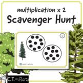 Multiplication 2x Table Math Scavenger Hunt - Minimal Prep