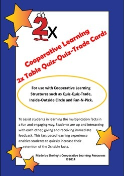 Quiz Quiz Trade 2x Times Table Cards