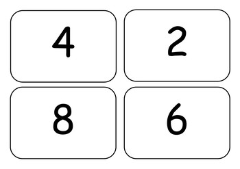 2x Times Table Flashcards