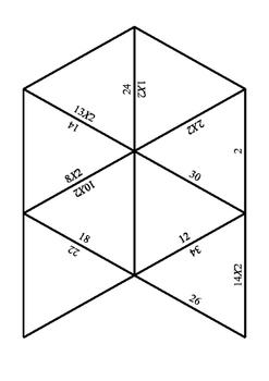 2x tables puzzle