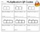 2x1, 3x1, 4x1 Area Model/Box Model QR Task Cards (Halloween)