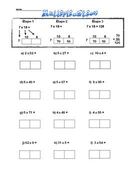 2x1 digit Multiplication (En français!)