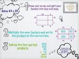 2x2 Digit Multiplication Area Model Digital Anchor Chart