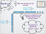 2x2 Digit Multiplication Area Model w/ Base 10 Blocks Digi