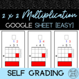 2x2 Digit Multiplication Practice 2 | Self Grading Google