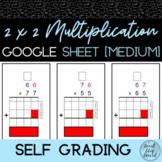 2x2 Digit Multiplication Practice 3 | Self Grading Google