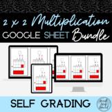 2x2 Digit Multiplication Practice | Self Grading Google Sh