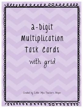 2x2 Digit Multiplication Task Cards