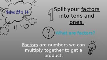 2x2 Digit Multiplication with Area Models Presentation