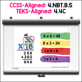 2x2 Multiplication Powerpoints: Partial Product, Area Model & more!