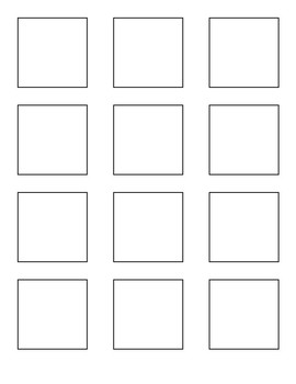 2x2 Post It Notes Printable Template: BUDDIES