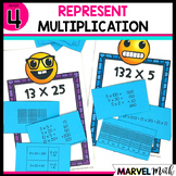2x2 and 3x1 Multiplication: Partial Products, Area Models, Arrays & More