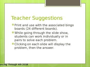 2x2 digit Multiplication Review Bingo (EnVisions Gr. 4 Topic 8)