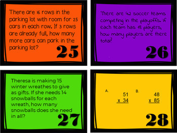 2x2-digit Multiplication Task Cards {English Only}