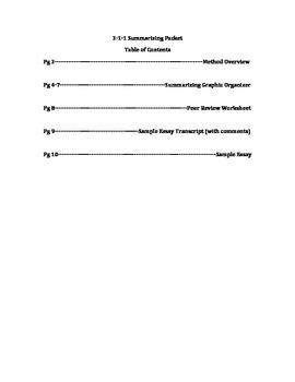 3-1-1 Summarizing Made Simple