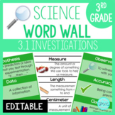 Scientific Investigation: 3rd Grade Science Word Wall