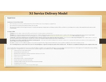 3:1 Service Delivery Model