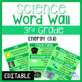 Energy: 3rd Grade Science Word Wall