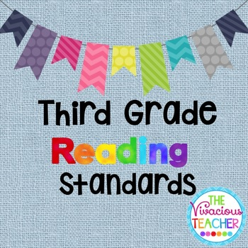 Common Core Standards Posters Third Grade Reading