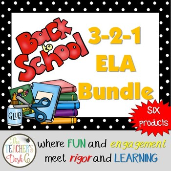 #HelloSummer Back to School ELA Bundle Scoot, Zap, Mystery Picture