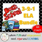 Back to School ELA Bundle Scoot, Zap, Mystery Picture