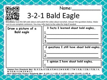 3-2-1 Birds With QR Codes (Common Core Aligned) 18 Birds