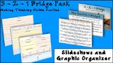 3-2-1 Bridge Pack- Making Thinking Visible Slideshows and Graphic Organizer