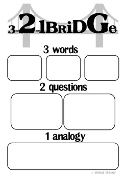 3-2-1 Bridge thinking routine