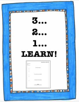 3-2-1 Class Review Exit Slip