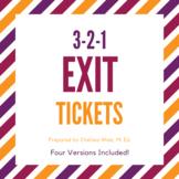 3-2-1 Exit Tickets