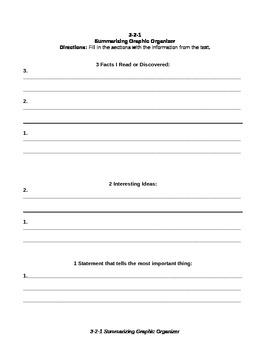 3 2 1 Graphic Organizer By Lacey Worsdell Teachers Pay Teachers