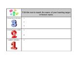 3-2-1 Graphic Organizer