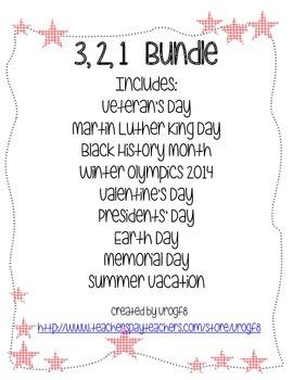 3, 2, 1 Holiday Activity Bundle