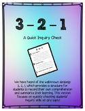 3-2-1 Inquiry Quick Check