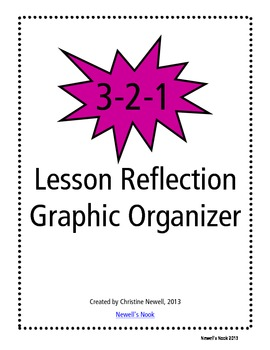 3-2-1 Lesson Reflection Graphic Organizer